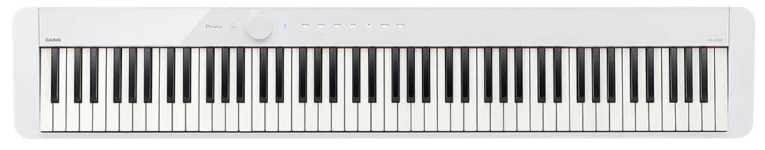 white casio piano privia s1000
